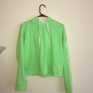 Forever 21 neon green sweatshirt